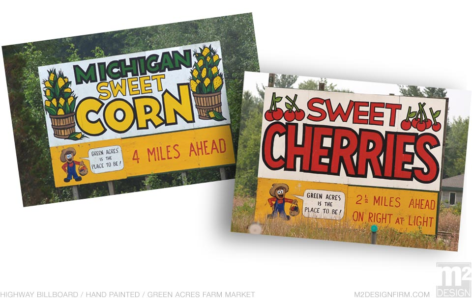 Green Acres Hand-painted Billboard