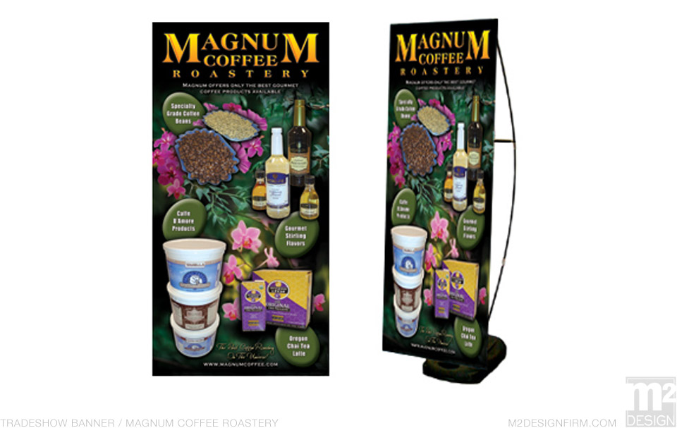 Magnum Coffee Tradeshow Banner