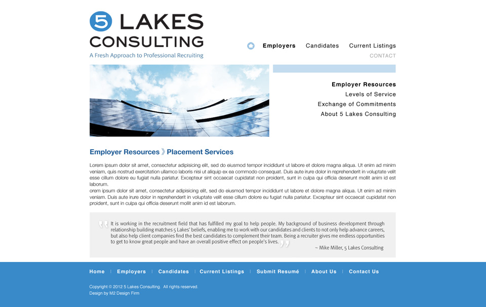 5 Lakes Interior Page