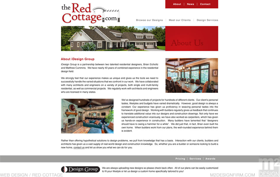 The Red Cottage Interior Page