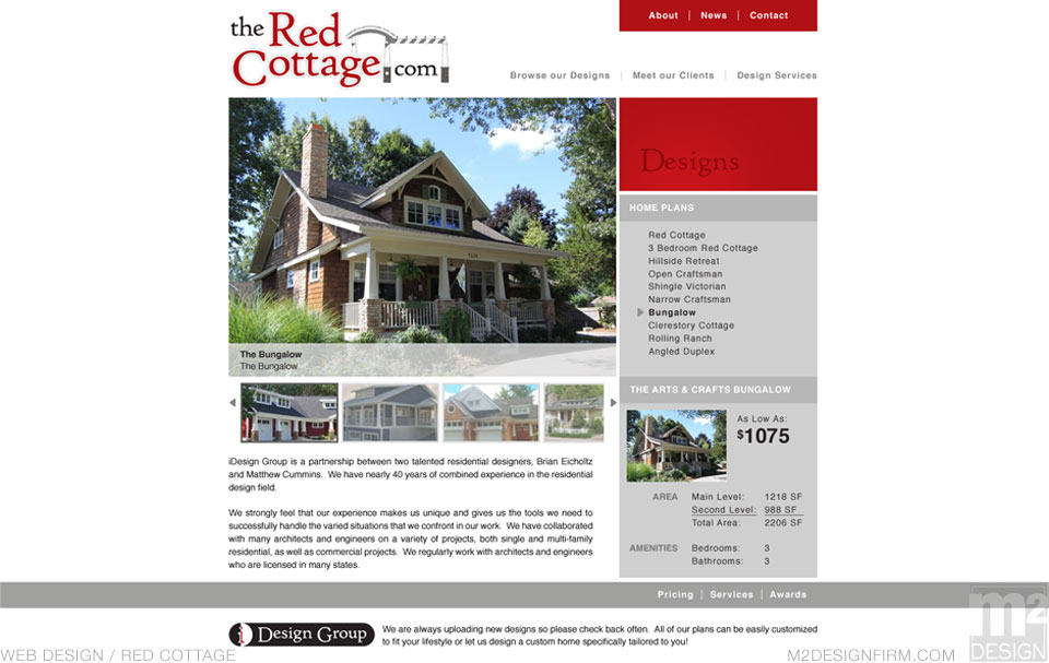 The Red Cottage Plan Page
